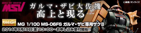 MG 1/100 MS-06FS ガルマ・ザビ専用 ザクII