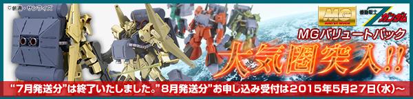 MG 1/100 バリュートパック(再販)【2次:2015年8月発送】